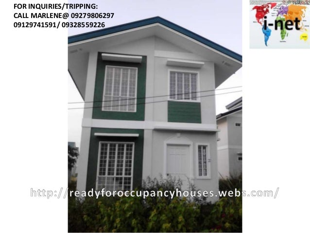 Ysabela premium and standard house and lot in cavite for sale 20 k res fee