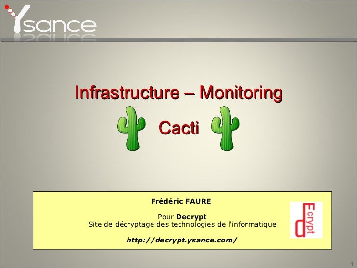 Infrastructure - Monitoring - Cacti