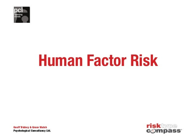 Managing Risk- The Human Factor