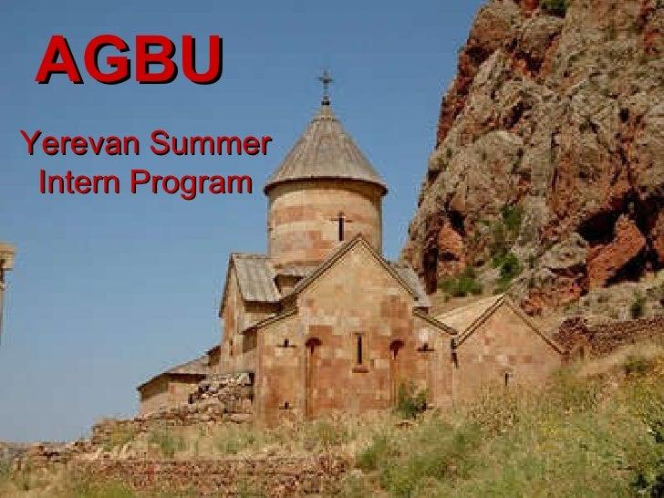 AGBU Yerevan Summer Intern Program