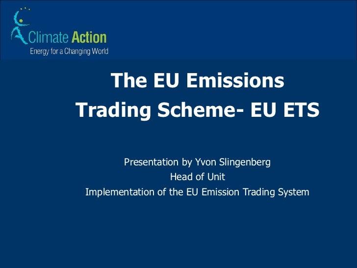 Eu emissions trading system (eu ets)
