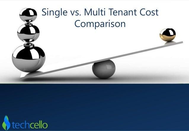 Single vs. Multi Tenant Cost Comparison