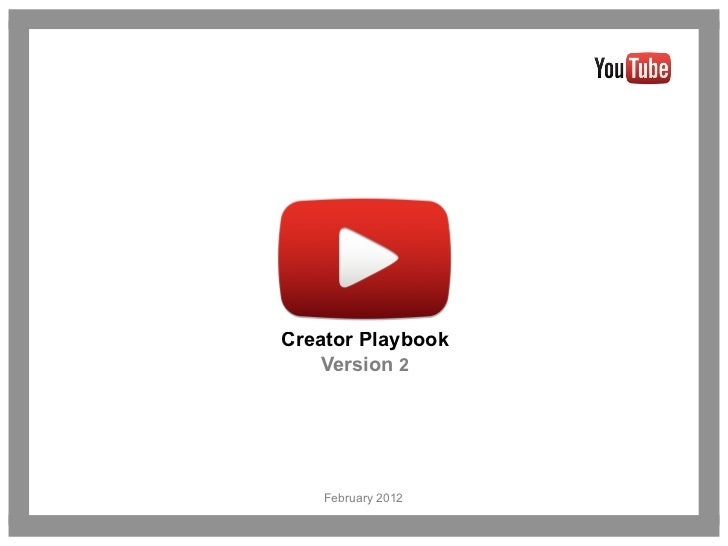 Youtube Creator Playbook