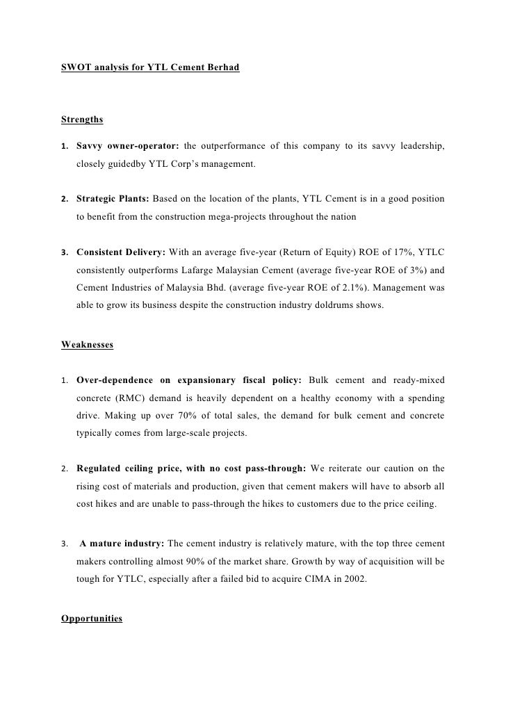 case study of the ytl corporation berhad Free essays on challenges faced by ytl corporation berhad for students use our papers to help you with yours 1 - 30  a case study of malaysian.