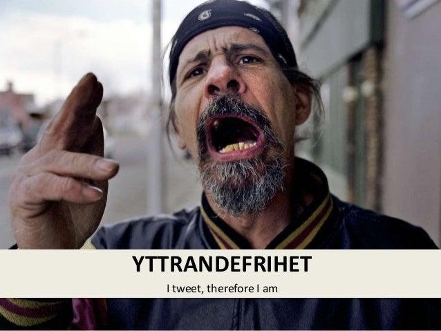 I tweet, therefore I am YTTRANDEFRIHET
