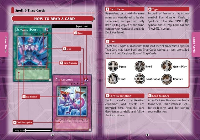Yugioh Trap And Spell Cards Spell Trap Cards How to Read
