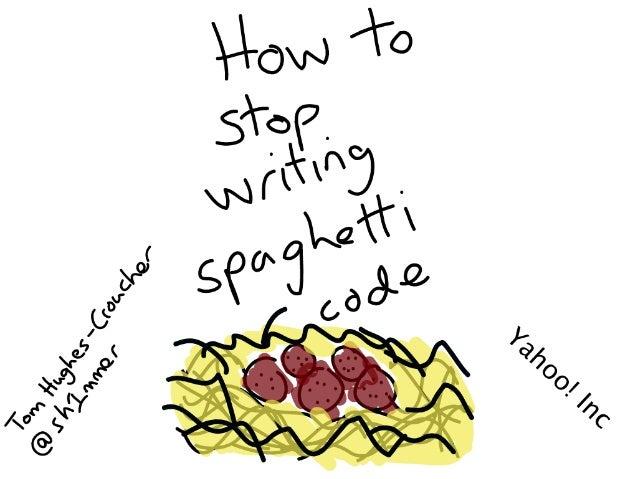 How to stop writing spaghetti code