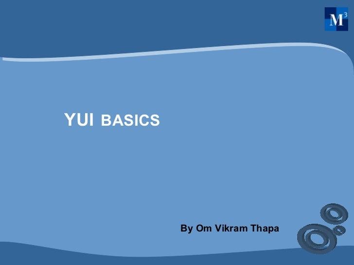 YUI Basics