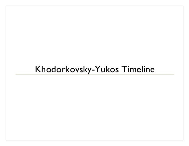 Yukos affair timeline   final (08.10.09) links work