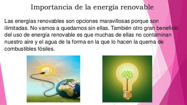 Resultado de imagen para importancia energía renovable