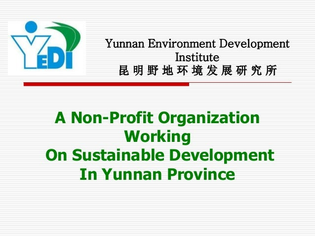 Yunnan Environment Development                  Institute        昆明野地环境发展研究所 A Non-Profit Organization         WorkingOn S...