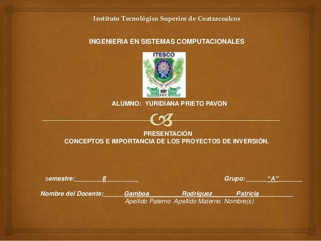 Instituto Tecnológico Superior de Coatzacoalcos              INGENIERIA EN SISTEMAS COMPUTACIONALES                     AL...