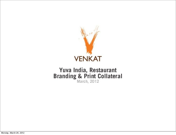 Yuva India Restaurant Branding & Print Collateral
