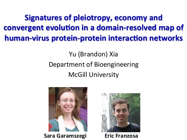 Signatures	   of	   pleiotropy,	   economy	   and	   	    convergent	   evolu6on	   in	   a	   domain-­‐resolved	   map	  ...