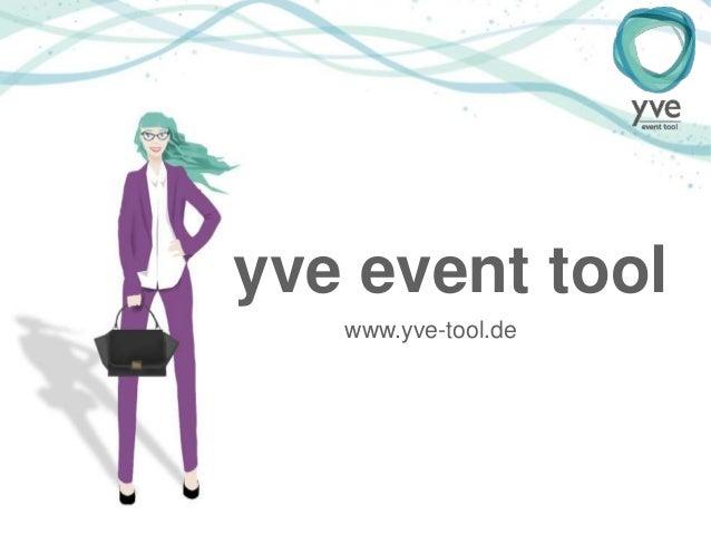 yve event tool www.yve-tool.de