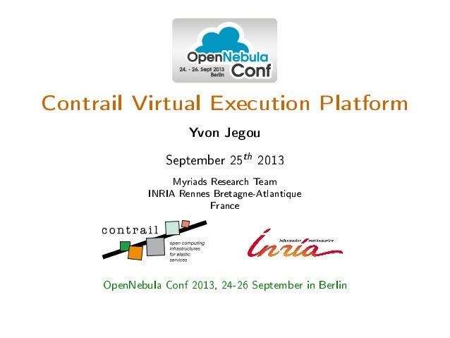 Contrail Virtual Execution Platform