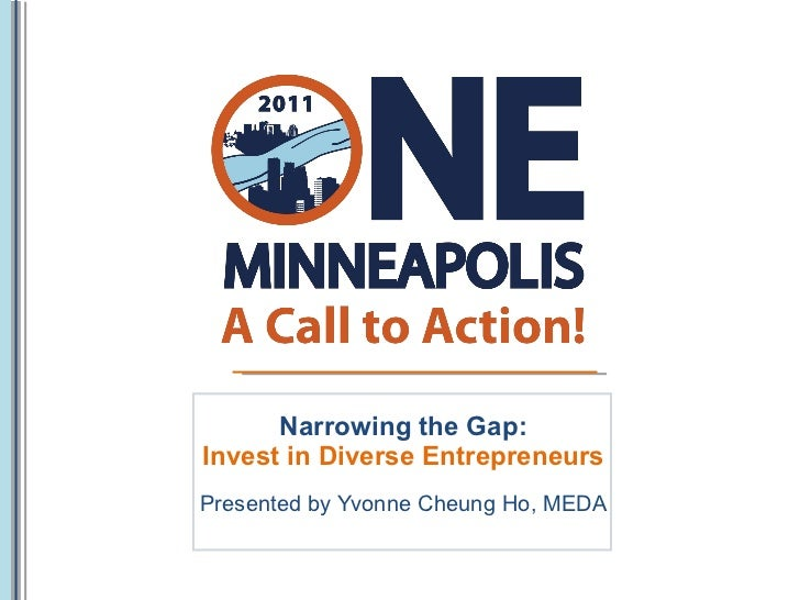 Narrowing the Gap: Invest in Diverse Entrepreneurs Presented by Yvonne Cheung Ho, MEDA