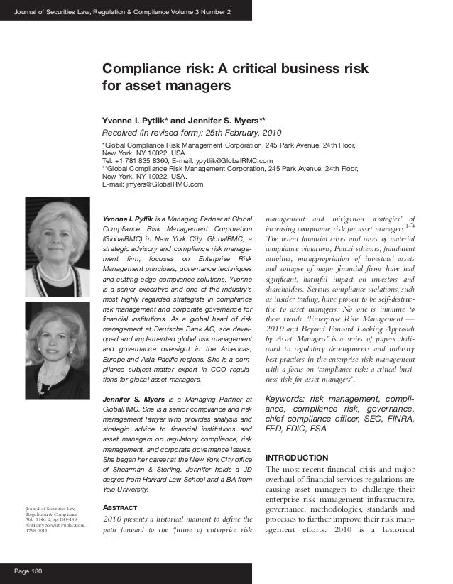 Yvonne I. Pytlik is a Managing Partner at Global Compliance Risk Management Corporation (GlobalRMC) in New York City. Glob...