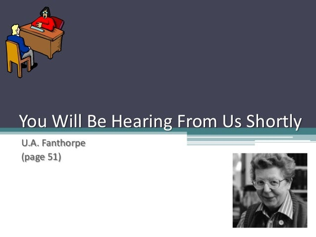 You Will Be Hearing From Us Shortly U.A. Fanthorpe (page 51)