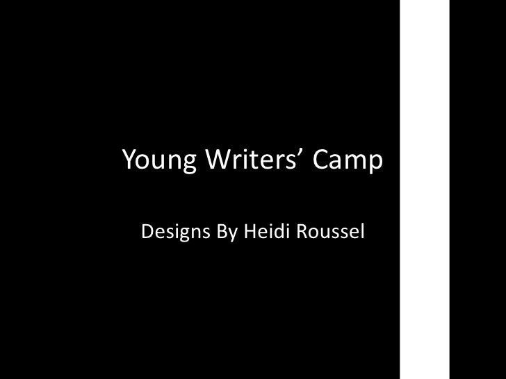 Young Writers' Camp Designs By Heidi Roussel