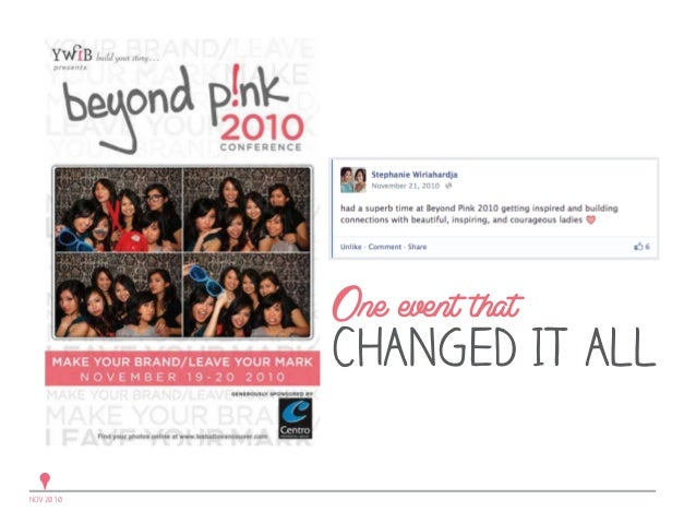 One event that  CHANGED IT ALL NOV 2010