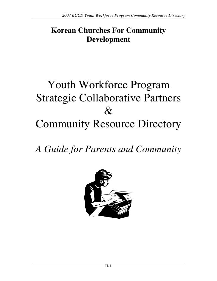 Youth Workforce Program Strategic Collaborative Partners & Community Resource Directory