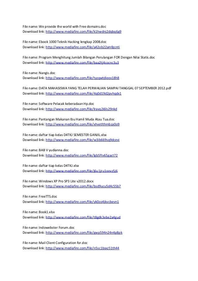 download ebook 1000 teknik hacking lengkap 2008