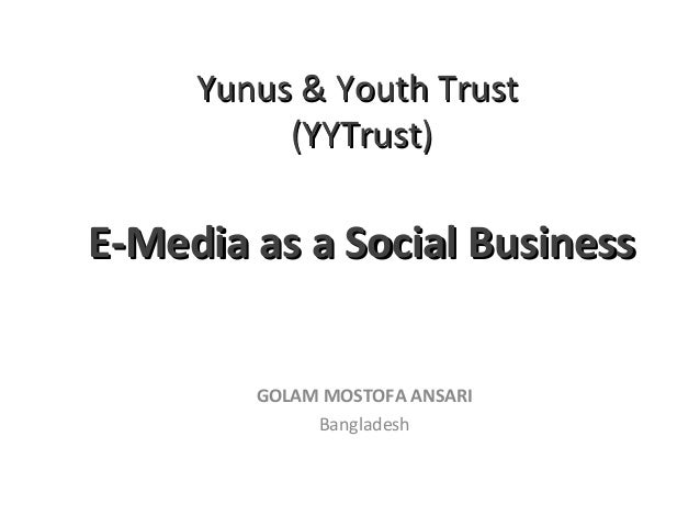 E-Media as a Social Business