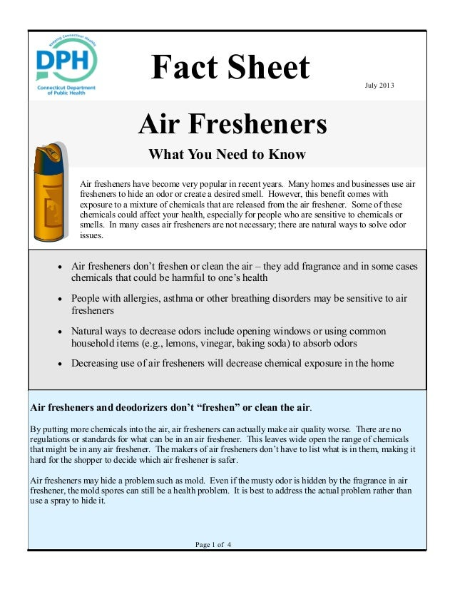 Air Freshener Ingredients Air Fresheners What You Need