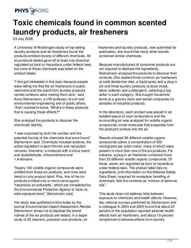 Air Freshener Ingredients Air Fresheners 23 July