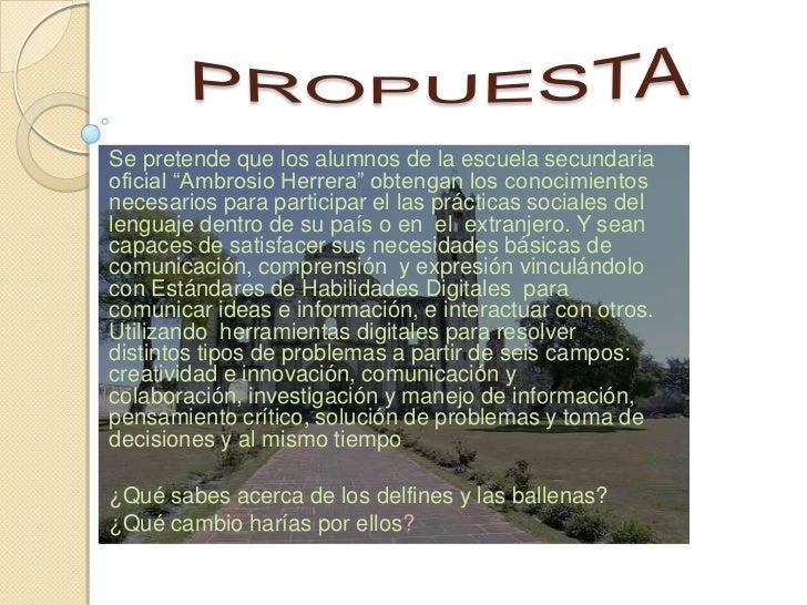 """Se pretende que los alumnos de la escuela secundariaoficial """"Ambrosio Herrera"""" obtengan los conocimientosnecesarios para p..."""