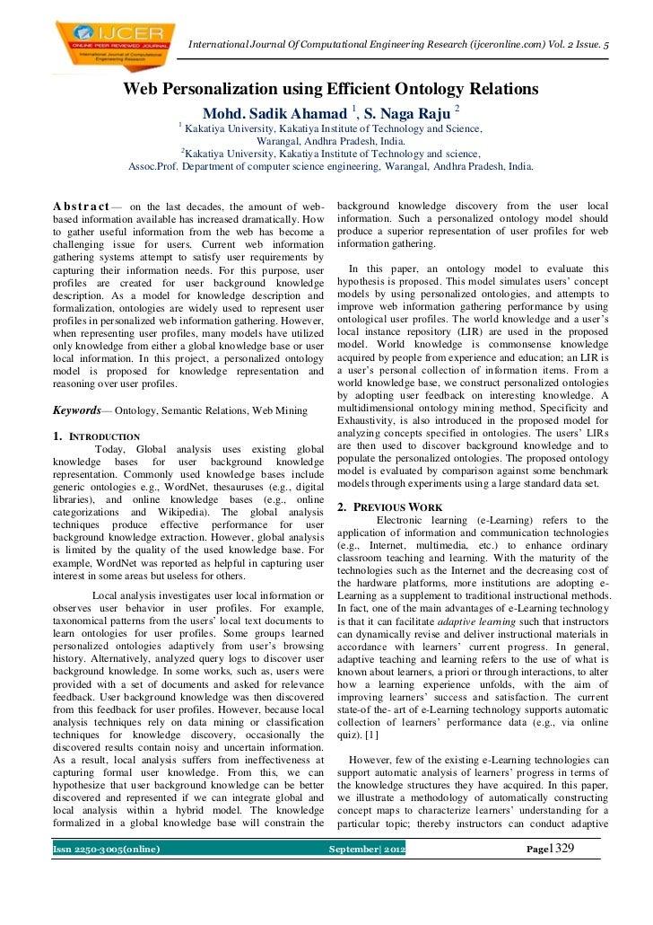 International Journal Of Computational Engineering Research (ijceronline.com) Vol. 2 Issue. 5               Web Personaliz...