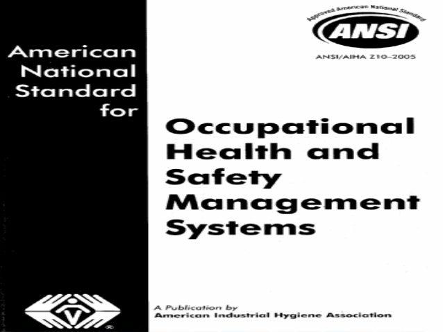 39 CONGRESO de Seguridad, Salud y Medio AmbienteBogotá, junio 2006ANSI/AIHA Z10 (2005)Nuevo esquema normativo para laSegur...