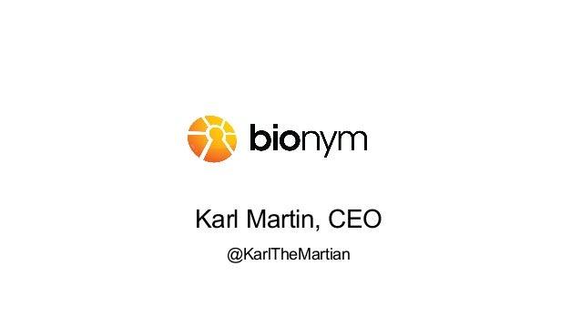 Karl Martin, CEO @KarlTheMartian