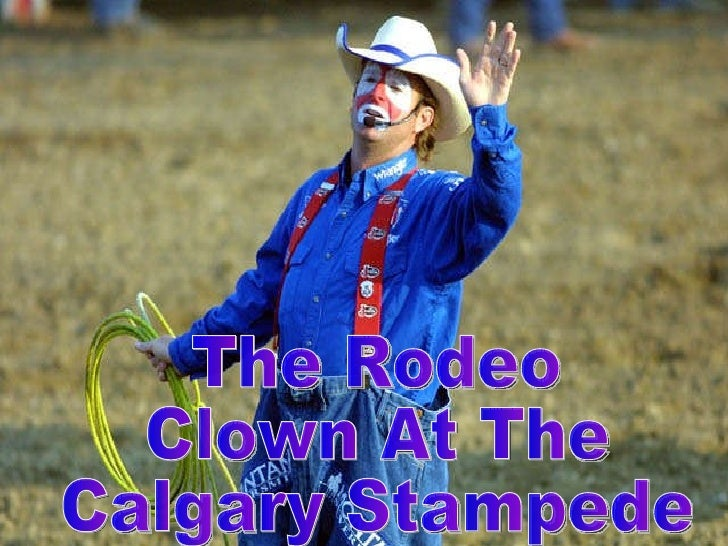 The Rodeo  Clown At The  Calgary Stampede