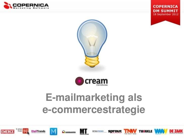 Copernica DM Summit 2012: Marcel van Wijk - E-mailmarketing als e-commercestrategie