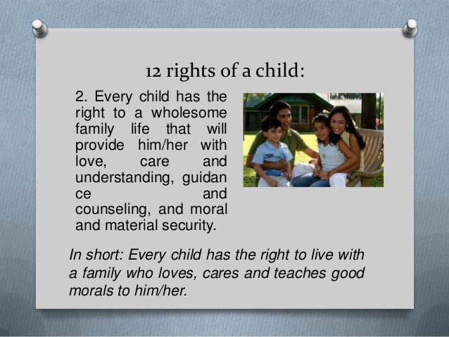 every child has a right to Every child has the right to a mainstream education this is an entitlement for the parents of special needs children, for them to be able to access this, if they believe it to be the correct decision for their child.