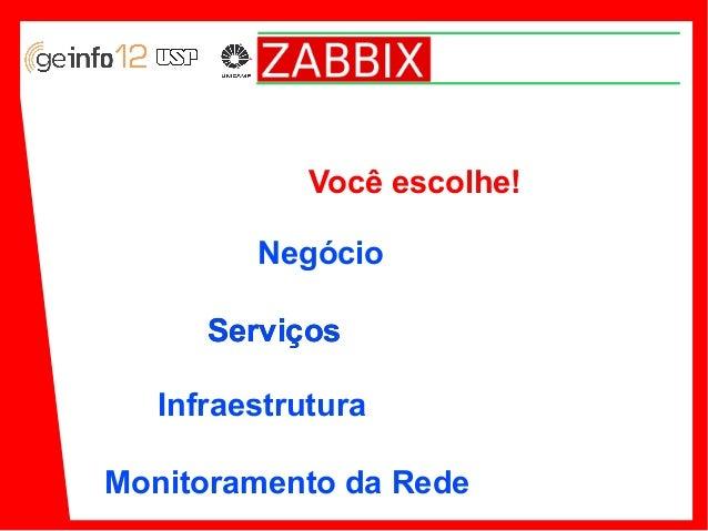 Palestra Zabbix no 12 Geinfo (2013)