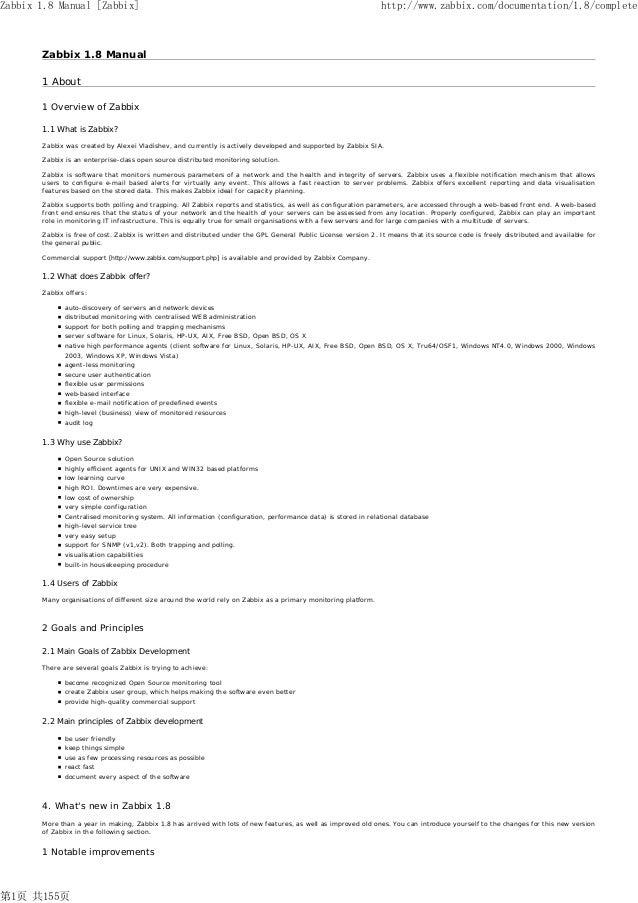 Zabbix zabbix manual v1.8