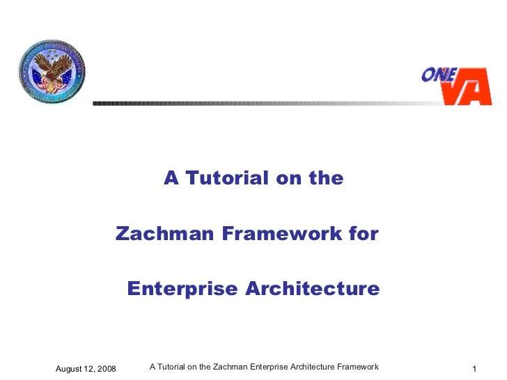 Zachman Tutorial