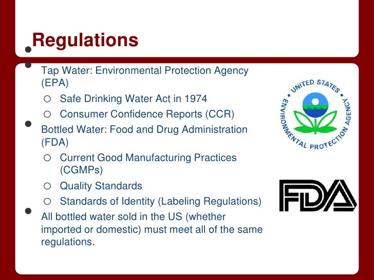 History Of The Safe Drinking Water Act