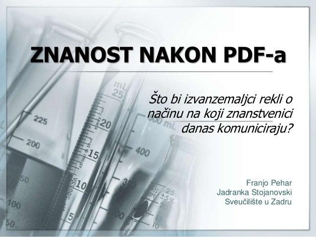 Znanost nakon PDF-a