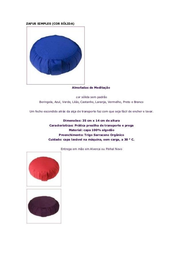 ZAFUS SIMPLES (COR SÓLIDA)                               Almofadas de Meditação                                  cor sólid...
