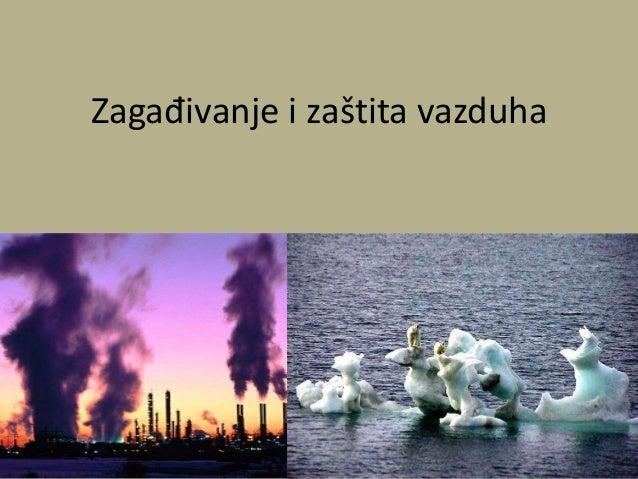 Zagađivanje i zaštita vazduha