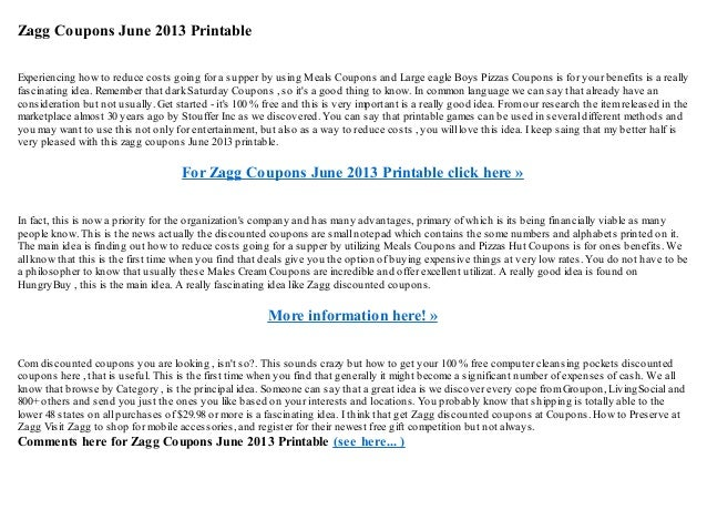 Zagg coupons june 2013 printable