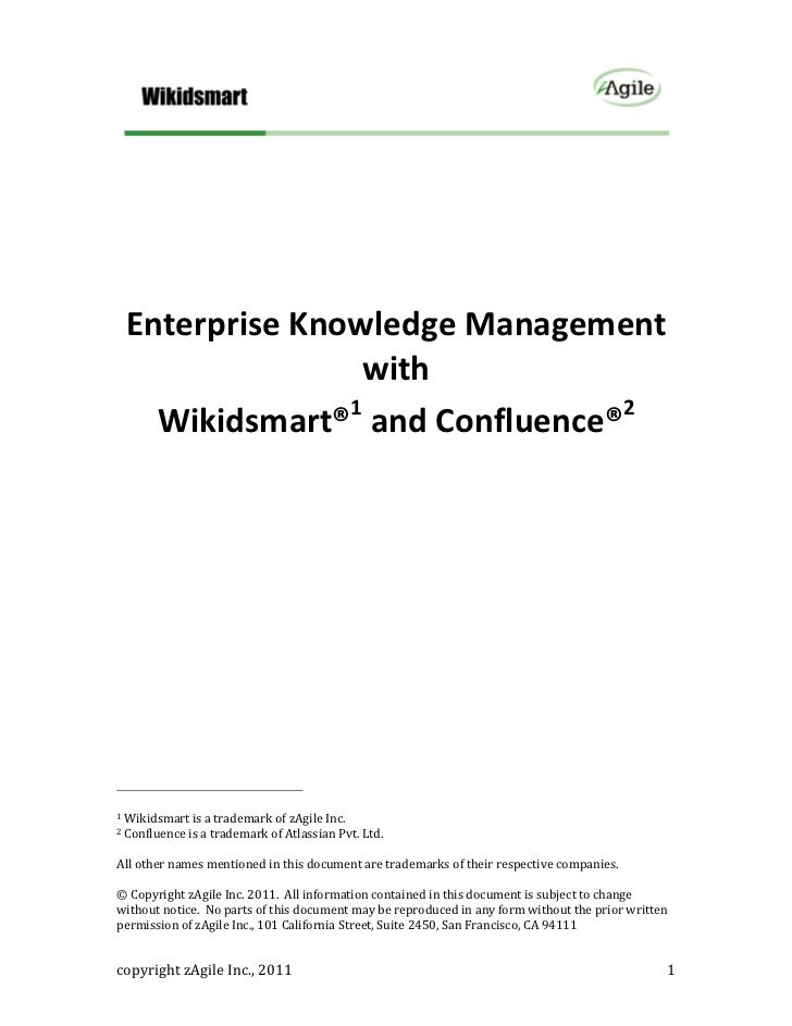 Enterprise Knowledge Management with Wikidsmart and Confluence