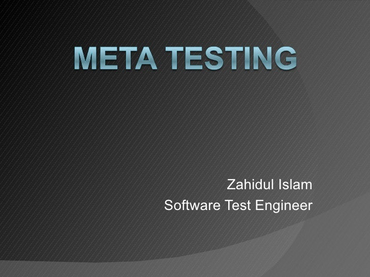 Zahidul Islam Software Test Engineer