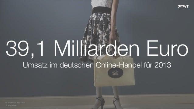 Zahl des Tages; 39,1 Milliarden Euro Umsatz im deutschen eCommerce