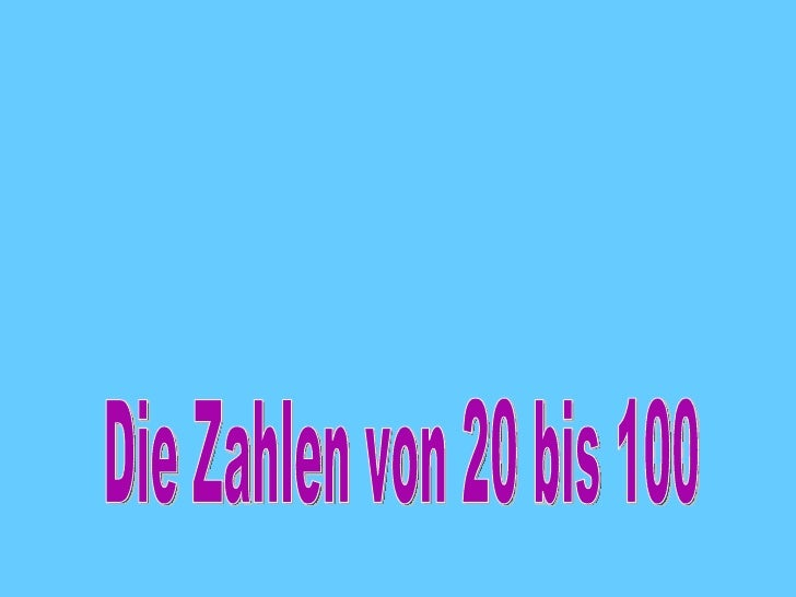Zahlen20bis100