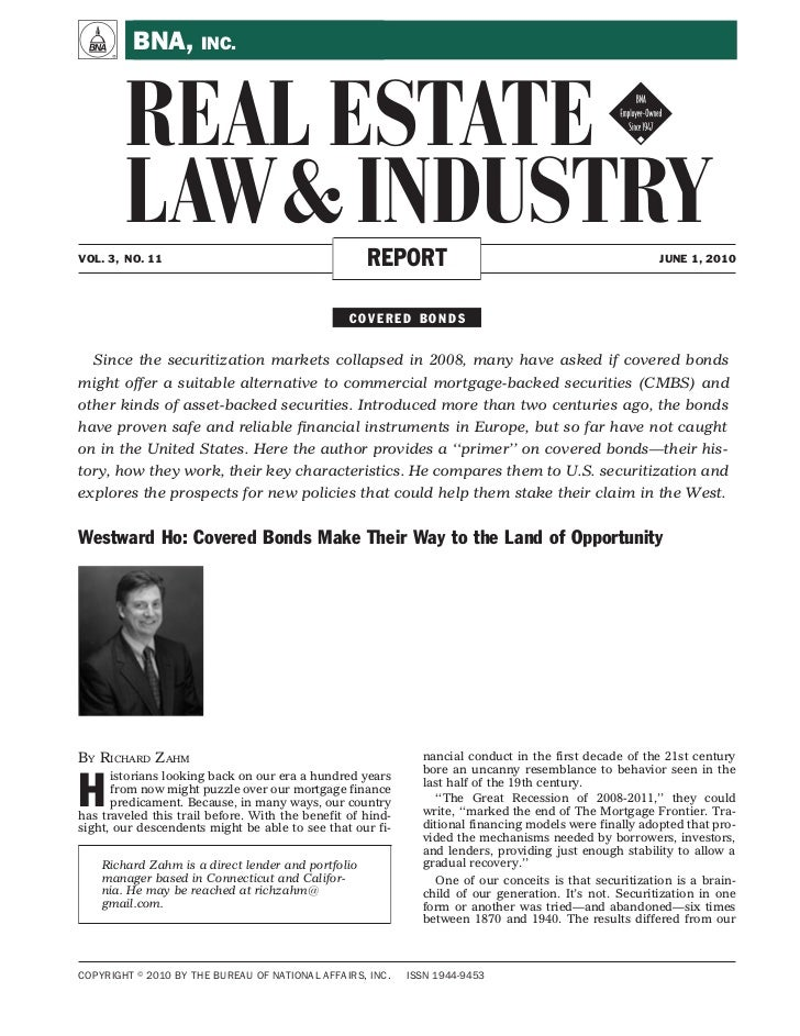 A        BNA, INC.        REAL ESTATE !        LAW & INDUSTRYVOL. 3, NO. 11                                      REPORT   ...